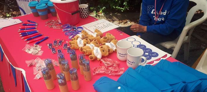 A merchandise stall we ran at a summer fete