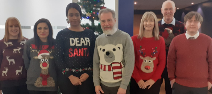 Our team on Christmas jumper day